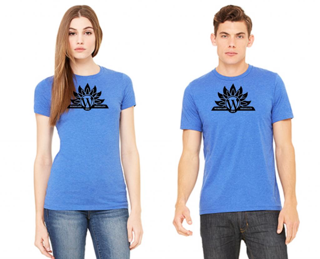 camisetas wordcamp medellin